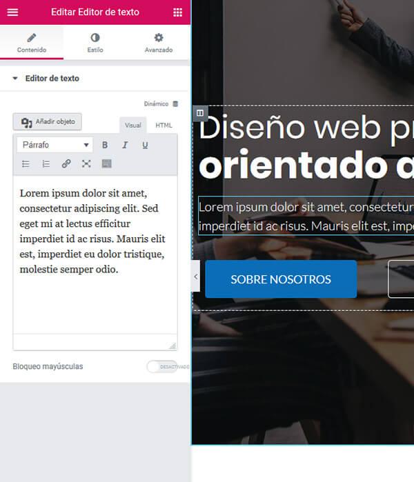 web economica para empresas 1 personalizar