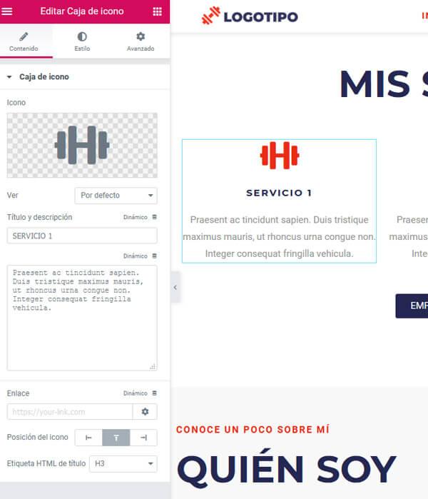 web-economica-para-freelance-3-personalizar